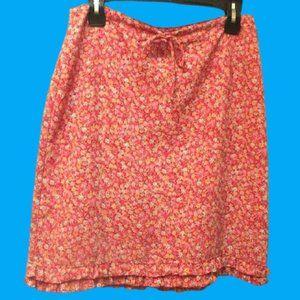 Les ailles de la mode Red Floral Skirt Size 9